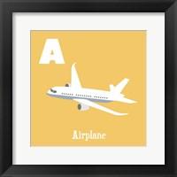 Transportation Alphabet - A is for Airplane Fine-Art Print