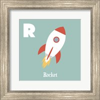 Transportation Alphabet - R is for Rocket Fine-Art Print