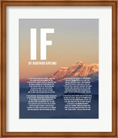 If by Rudyard Kipling - Mountain Sunset Fine-Art Print