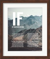 If by Rudyard Kipling - Mountains Fine-Art Print