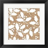 White Holly Branches Burlap Fine-Art Print