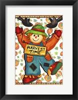 Scarecrow And Pumpkins Fine-Art Print