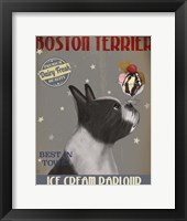 Boston Terrier Ice Cream Fine-Art Print