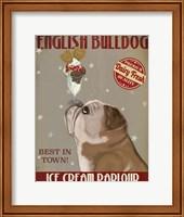 English Bulldog Ice Cream Fine-Art Print