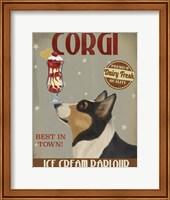 Corgi, Black and Tan, Ice Cream Fine-Art Print