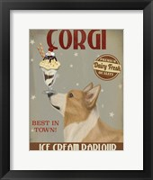 Corgi, Tan, Ice Cream Fine-Art Print