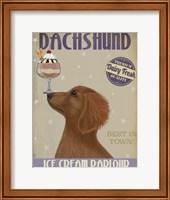 Dachshund, Gold, Ice Cream Fine-Art Print