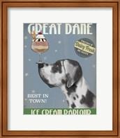 Great Dane, Harlequin, Ice Cream Fine-Art Print
