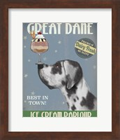 Great Dane, Harlequin, Ice Cream Fine-Art Print
