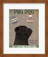 Pug, Black, Ice Cream Fine-Art Print