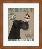 Schnauzer, Black, Ice Cream Fine-Art Print