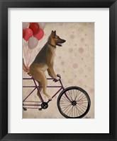 German Shepherd on Bicycle Fine-Art Print