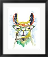 Smarty-Pants Llama Fine-Art Print