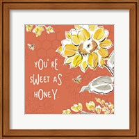 Bee Happy III Spice Fine-Art Print