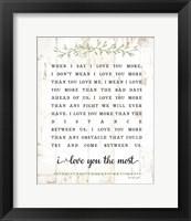 I Love You More Fine-Art Print