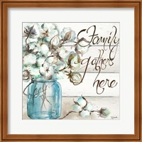 Cotton Boll Mason Jar I Family Fine-Art Print