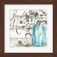 Cotton Boll Mason Jar II Home Fine-Art Print