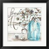 Cotton Boll Mason Jar II Home Fine-Art Print