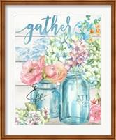 Colorful Flowers in Mason Jar Gather Fine-Art Print