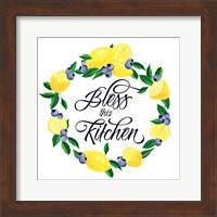 Lemon Blueberry Kitchen Sign I Fine-Art Print