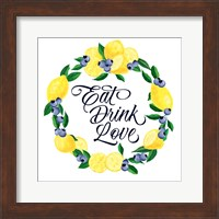 Lemon Blueberry Kitchen Sign II Fine-Art Print