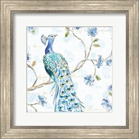 Peacock Allegory III White Fine-Art Print