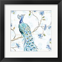 Peacock Allegory III White Fine-Art Print