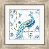 Peacock Allegory IV White Fine-Art Print