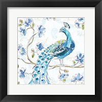 Peacock Allegory IV White Fine-Art Print