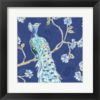 Peacock Allegory III Blue Fine-Art Print