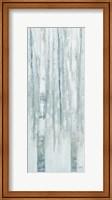 Birches in Winter Blue Gray Panel I Fine-Art Print