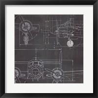Plane Blueprint III No Words Post Fine-Art Print