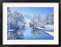 Winter landscape at Loisach, Germany Fine-Art Print