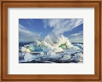 Waves breaking, Iceland Fine-Art Print