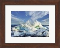 Waves breaking, Iceland Fine-Art Print
