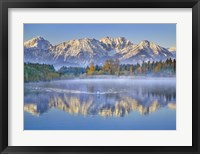 Allgaeu Alps and Hopfensee lake, Bavaria, Germany Fine-Art Print