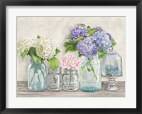 Flowers in Mason Jars (detail) Fine-Art Print