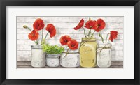 Poppies in Mason Jars Fine-Art Print