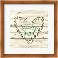 Love is Patient Heart Wreath Fine-Art Print