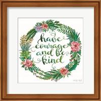 Have Courage Succulent Wreath Fine-Art Print
