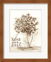 Bless Our Nest Cotton Bouquet Fine-Art Print