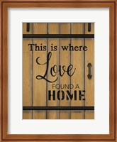 Love Found a Home Barn Door Fine-Art Print