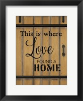 Love Found a Home Barn Door Fine-Art Print
