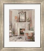 French Bath IV Gray and Blush Fine-Art Print
