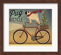 Pug on a Bike Christmas Fine-Art Print