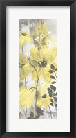 Floral Symphony Yellow Gray Crop II Fine-Art Print