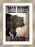 Bear Creek Lodge - Black Fine-Art Print