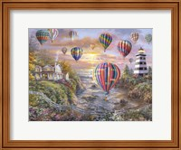 Balloons Over Cottage Cove Fine-Art Print