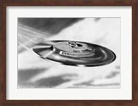1950s Artist'S Conception Ufo Flying Saucer Fine-Art Print