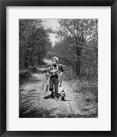 1950s Boy With Beagle Puppy Fine-Art Print